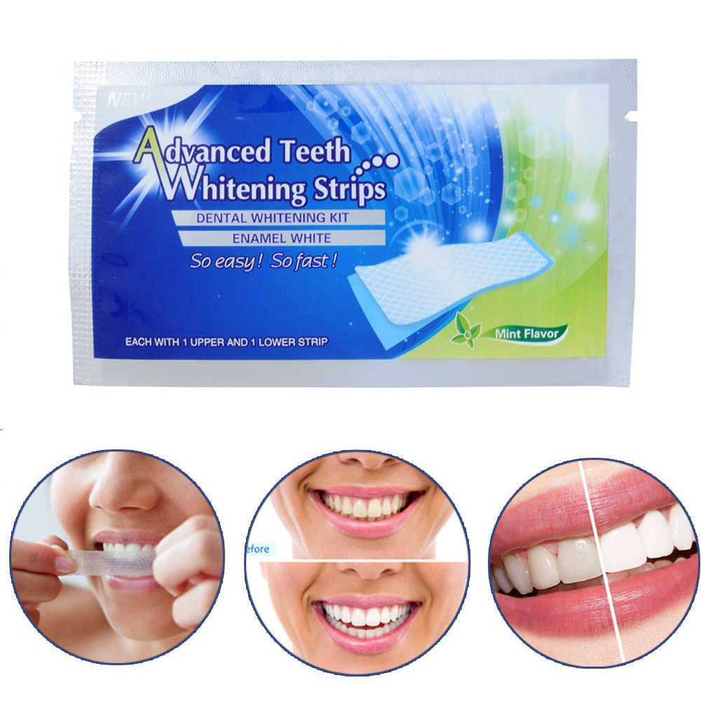 30Pcs/15Pair 3D White Gel Teeth Whitening Strips Oral Hygiene Teeth Strip blanchiment des dents Dental Bleaching Teeth Kit TSLM2