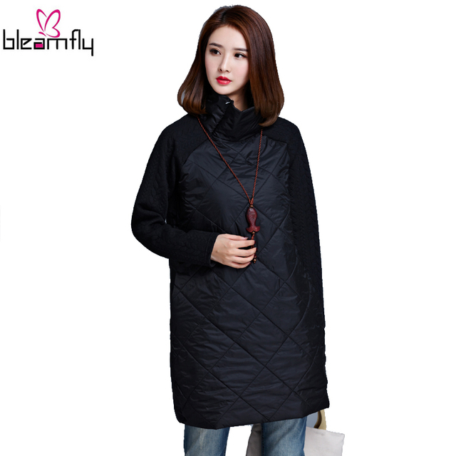 2016 Plus Size Autumn Winter Women Dress 4XL 5XL Casual Loose Patchwork Robe Cotton Clothing Black Tunic Vestidos Tunique femme