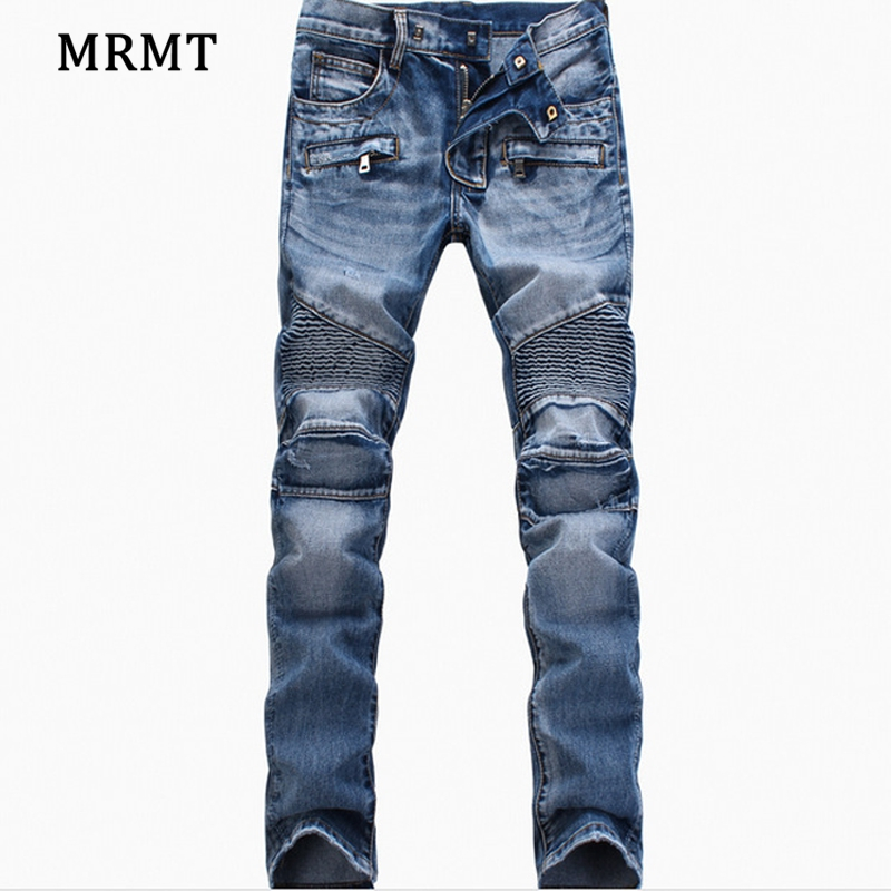 2018 explosion of European and American foreign trade jeans mens light colored little lamb pants