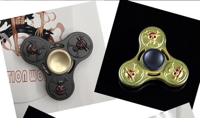 One Piece Collection Monkey D. Luffy Tri-Spinner Fidget Hand Spinner Toy Metal