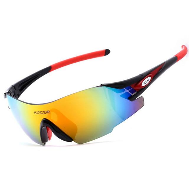 a0fe78444b KINGSIR Unisex Sport Sun Glasses Men Women Bike Bicycle MTB Sunglasses  Cycling Glasses Polarized Sunglasses 8 Color AC0051