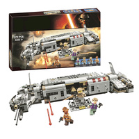 New Star plan Wars Advent Calendar Year 2018 Compatible Legoing The Sandcrawler building Block kid Toys