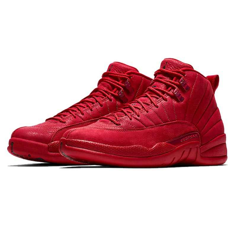 19373b43bf10 ... Hot Jordan Retro 12 Gym Red WNTR All Black Basketball Shoes Outdoor  Sport Sneakers High Cut ...
