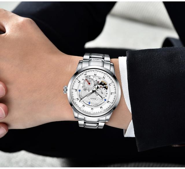 NESUN Watch Brand Automatic Mechanical 22 Jewels 3