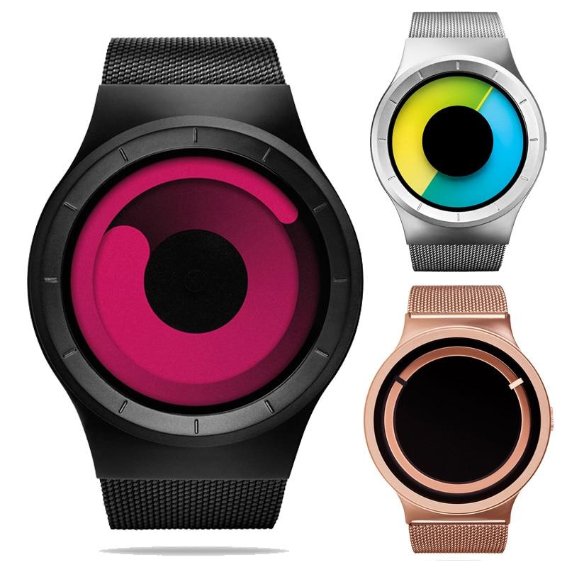 2017 Milan steel Quartz Ladies Dream Watch Clock Male movement Concept watches Spiral Discoloration Creative trend watches