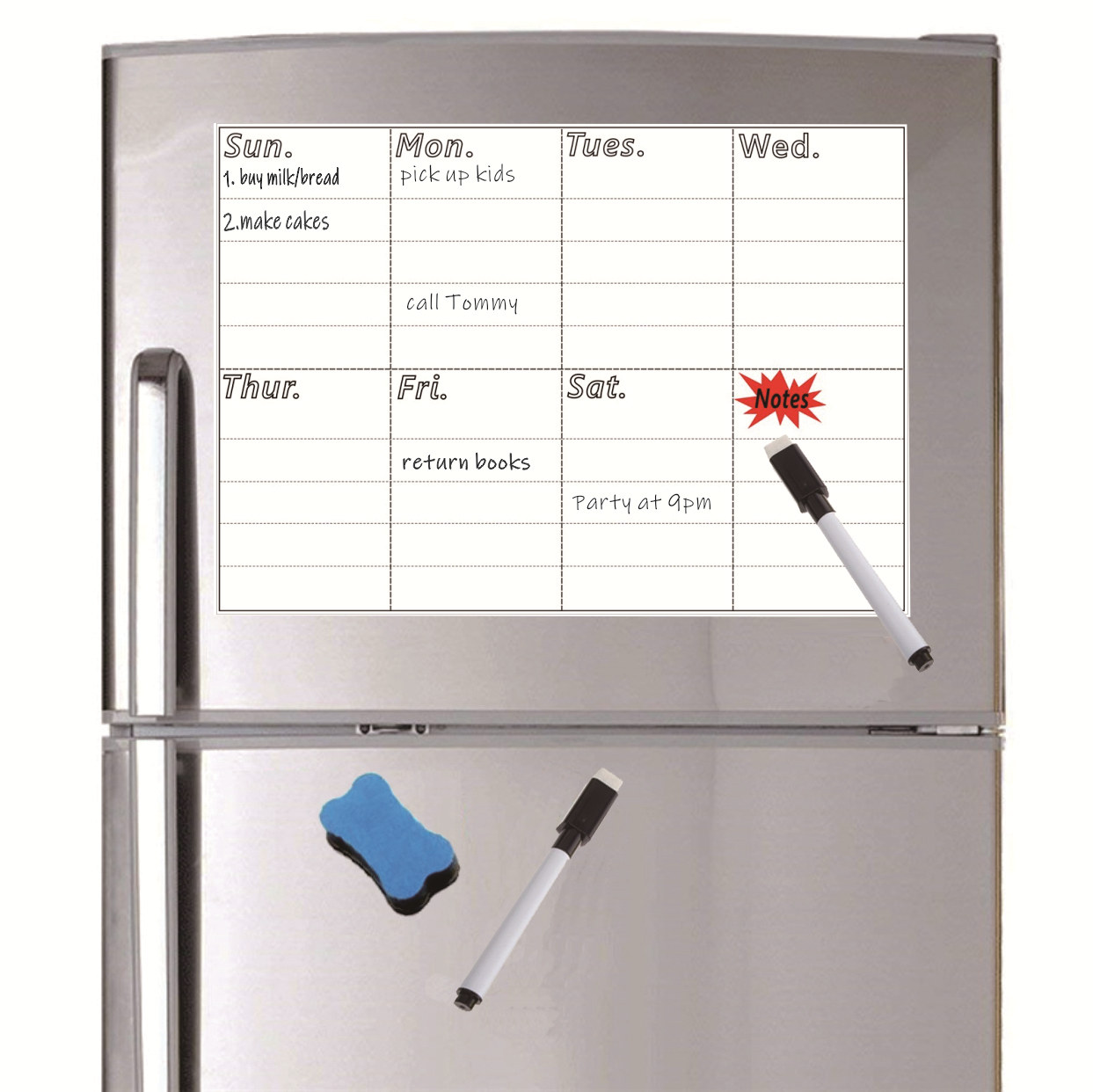A4 Magnetic Menu Board For Fridge Sticker Weekly Planner Grocery To Do List Notepad Kitchen Refrigerator Magnet Whiteboard