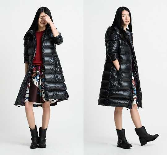 Plus Größe Frauen Unten Mantel Jacke Kapuze Frau Unten Mantel Shiny Black Winter Mantel Frauen Mantel