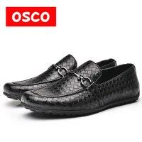Оско мужские повседневные Лоферы обувь ручной работы модная удобная дышащая мужская обувь # B996706P