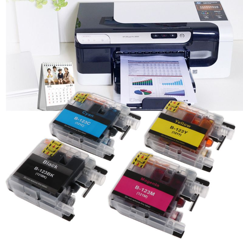 1PC Printer Ink Cartridge For Brother LC123 Compatible For MFC-J4510DW J4410DW MFC-J4610DW J4710DW  1PC Printer Ink Cartridge For Brother LC123 Compatible For MFC-J4510DW J4410DW MFC-J4610DW J4710DW