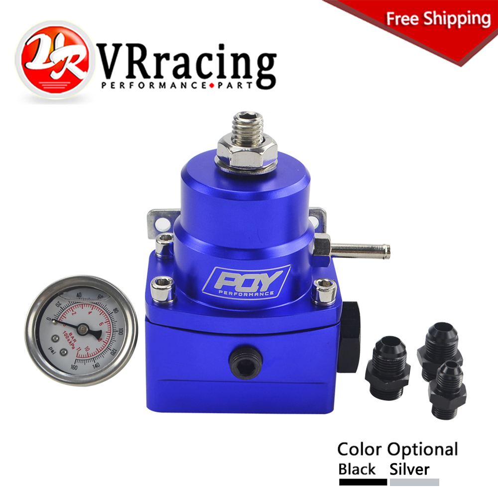 FREE SHIPPING AN8 high EFI pressure fuel regulator w/ boost -8AN 8/8/6 PQY Fuel Pressure Regulator with gauge VR7855 free shipping g1 ports air filter regulator model aw5000 10 with pressure gauge 5pcs in lot high flow rate in stock