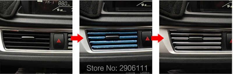 3 M U Stijl decoratie strip Grille Chrome auto Automotive air conditioning outlet voor Honda fit accord crv civic jazz stad hrv