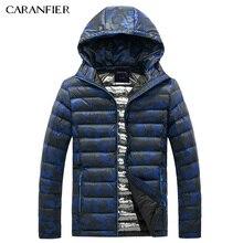 CARANFIER 2017 Parka Men Winter Hooded Jacket Smart Casual Cotton Coat Zipper Breathable Warm 4 color camouflage Male Down Parka