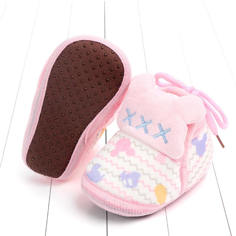 Indoor First Walkers Baby Shoes Cotton Anti-slip Booties Winter Wammer Baby Girl Boy Shoes Newborn Slippers Footwear Booties (45)