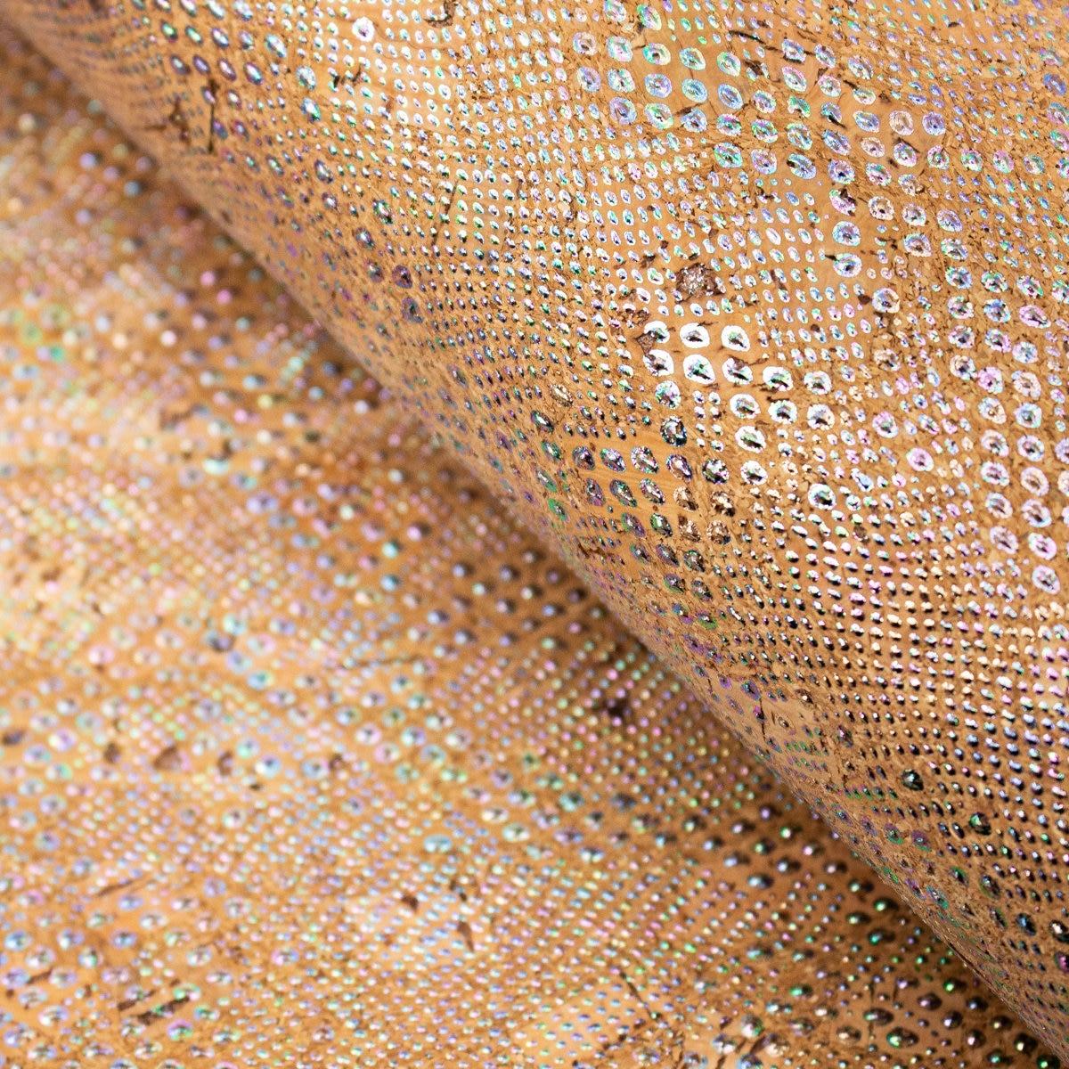 A partir de Portugal de cortiça Natural Colorido dot tecido de cortiça Cortiça Têxtil COF-211