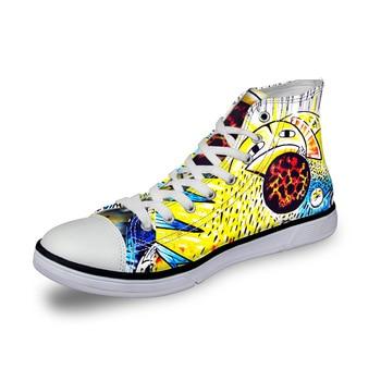 Top High Mujer Noisydesigns Lona Para Vintage Zapatos Zapatillas De N8PkXnZ0wO
