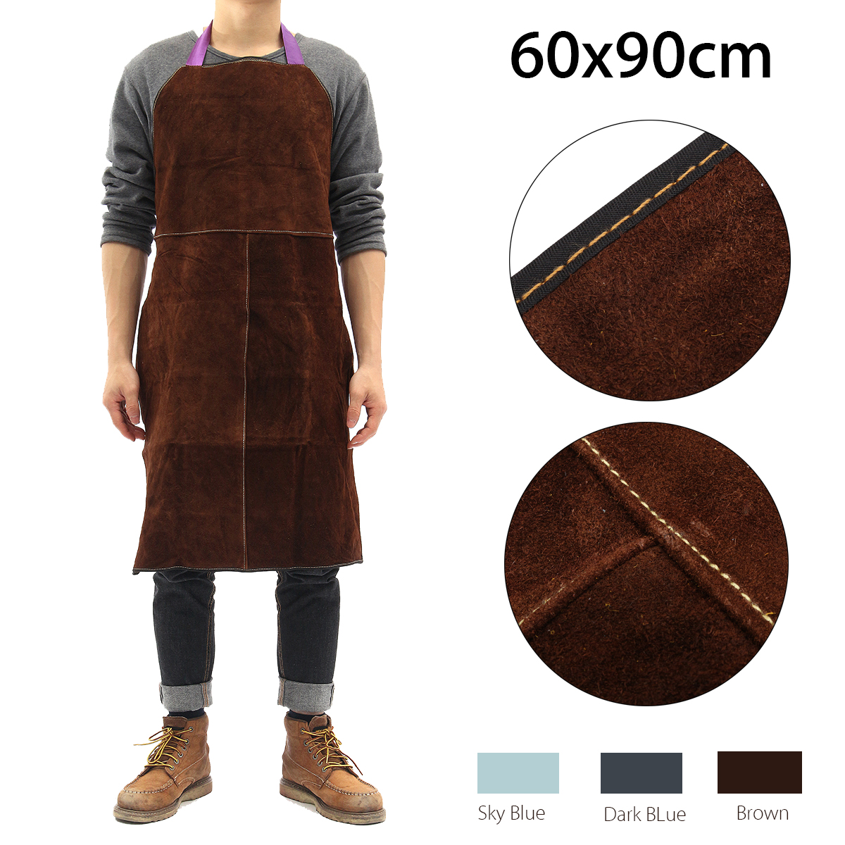 Safurance for Welders Apron Heat Resistant Welding Equipment Heat Insulation Protection Cow Leather Apron Workplace Safety my apron