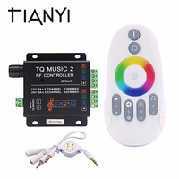 DC 12V 24V Support WIFI Music RGB LED Controller RF Audio control 18A 3 Channel Music 2 LED RGB Controller For LED Strip