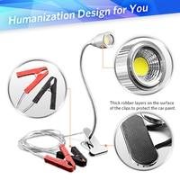 Adjustable LED Reading Desk Light Super Bright Lamp For Kindle USB Table Lamps Portable Desk Light Mini COB Clip on