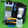 KELUSHI 9pcs Set FTTH Tool Kit With FC 6S Fiber Cleaver And Optical Power Meter 10mW