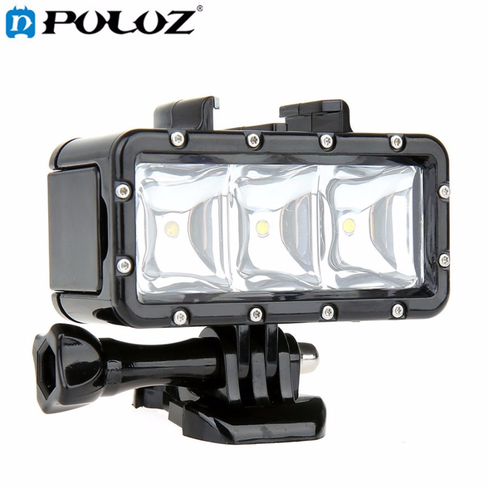 For Go Pro Accessories 30M Waterproof 300LM LED Video Light diving Light for GoPro HERO5 HERO4 Session HERO 5 4 3+ SJ4000