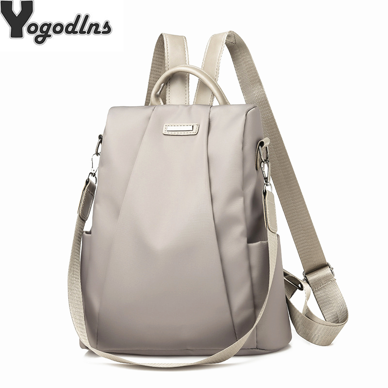 Fashion Laptop Backpack Nylon Charge Computer Backpack Anti theft Waterproof Bag for Women Oxford cloth student Fashion Laptop Backpack Nylon Charge Computer Backpack Anti-theft Waterproof Bag for Women Oxford cloth student bag Teenage