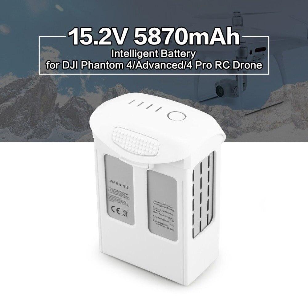 15.2 v 5870 mah Intelligente di Ricambio di Volo LiPo Batteria Parte di Ricambio per DJI Phantom 4/Advanced/4Pro FPV quadcopter RC Drone15.2 v 5870 mah Intelligente di Ricambio di Volo LiPo Batteria Parte di Ricambio per DJI Phantom 4/Advanced/4Pro FPV quadcopter RC Drone