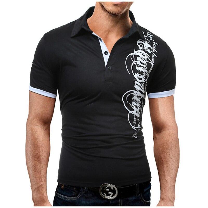 c498cb5720 Novo 2018 Da Marca de Moda Masculina Camisa Polo Impressão Curto-Luva Slim  Fit Camisa Dos Homens Camisas Pólo Camisas Casuais Grande tamanho M-3XL