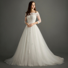 FOLOBE Casamento A-line Wedding Dresses With Sleeve