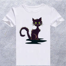 73c099e380e2 TEExpress 2018 Newest Men Fashion Watercolor Cat Design T shirt Novelty  Graffiti Tops Gentleman Custom Printed
