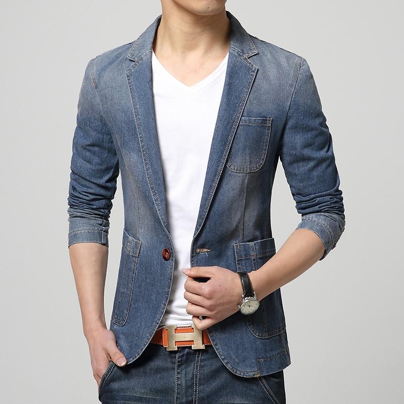 Aliexpress.com : Buy 2017 Denim Jackets suit slim fit ...
