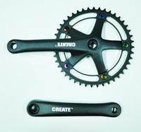 CREATE ALUMINUM alloy 44T 170MM ANODE screws road folding fixed gear bicycle crank