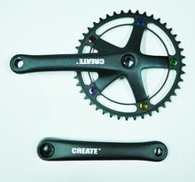 цены на CREATE ALUMINUM alloy 44T 170MM ANODE screws road folding fixed gear bicycle crank  в интернет-магазинах