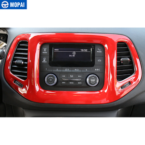 Image 2 - MOPAI 3.5 Inches Car Interior Dashboard Navigation GPS Decoration Frame Cover Stickers for Jeep Compass 2017 Up Car Styling