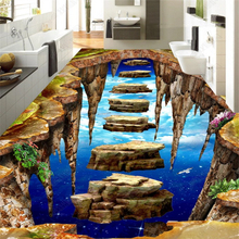 beibehang Fashion custom classic stereo wallpaper large 10 m suspended stone road floor papel de parede wall papers home decor