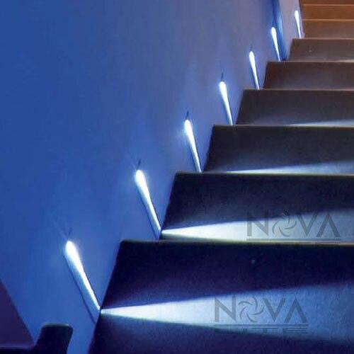 Lighting Basement Washroom Stairs: AC100V To 240V Input 12pcs Blade Step Light White, LED