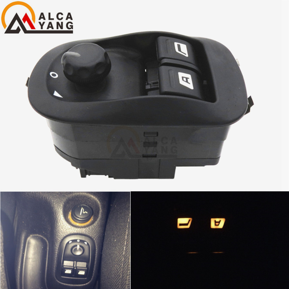 Elektrisk fönsterbrytare Master Button Control Windows Mirror Switch 6554.WA För Peugeot 206 2002-2013 2014 2015 2016