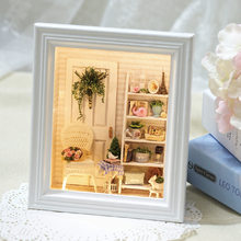 New Home Decoration Crafts Diy Doll House Wooden Houses Miniature Dollhouse Furniture Kit Room Led Lights Photo Frame(China)