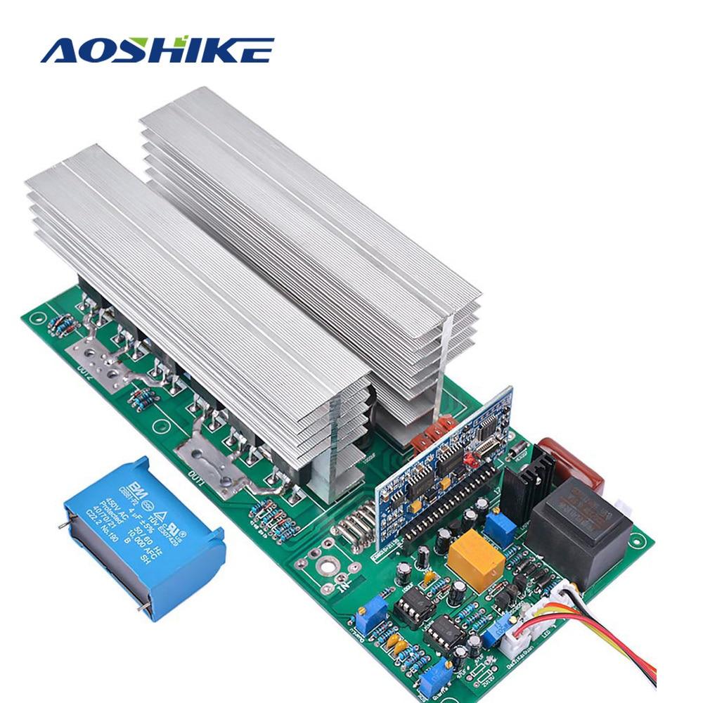AOSHIKE onduleur pur onde sinusoïdale puissance DC12V 24 V 36 V 48 V 60 V à 220 V onduleurs 1500 W 3000 W 4000 W 5000 W 6500 W W