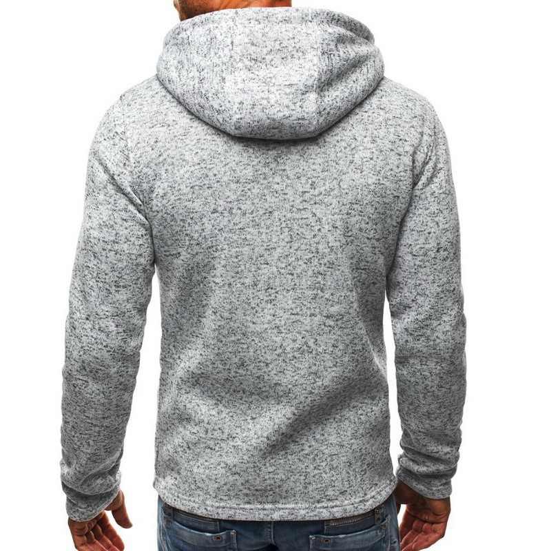 남성 클래식 후드 티 스웨터 가을 지퍼 패치 워크 카디건 스웨터 남성 인과 streetwear 힙합 streetwear