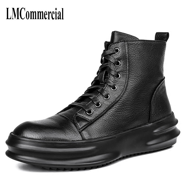 High shoes men boots Martin winter trend of Korean young men boots leather British retro men shoes cowhide breathable male boots 2017 new autumn winter british retro men shoes zipper leather breathable sneaker fashion boots men casual shoes handmade