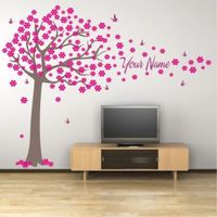 Butterfly Tree Vinyl Girl's Name Wall Stickers Home Decor Art Wall Stickers Stickers for Girl Room