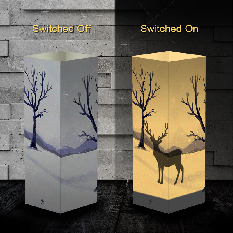 deer shape shadow LED night lamp as gift ideas for christmas for room decoration