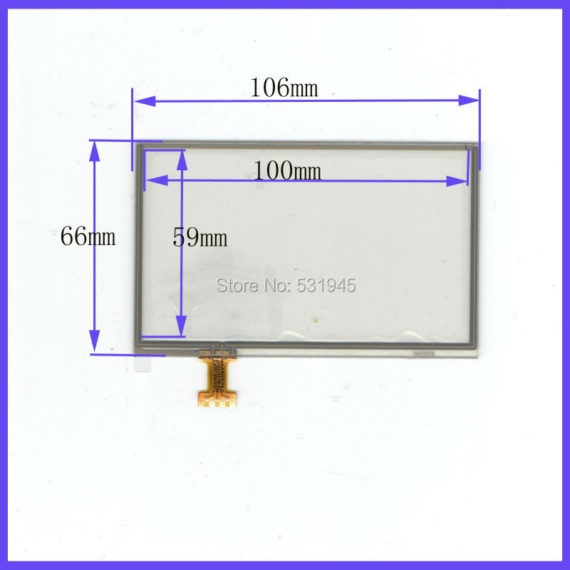 4.3 inch use LQ043T1DH03 4-wire resistive Touch Panel 106*66Navigator TOUCH SCREEN 106mm*66mm GLASS LCD display