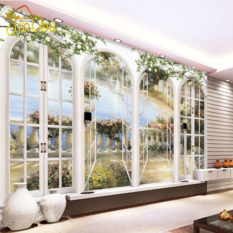 Nach 3D Foto Tapete Europäischen Minimalistischen Schlafzimmer Wohnzimmer  TV Hintergrund Malerei Bögen 3D Streifen Abstrakte Wandbild Tapete