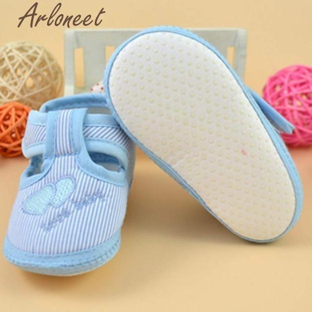2017 Newborn Girl Boy Soft Sole Crib Toddler Shoes Canvas Sneaker