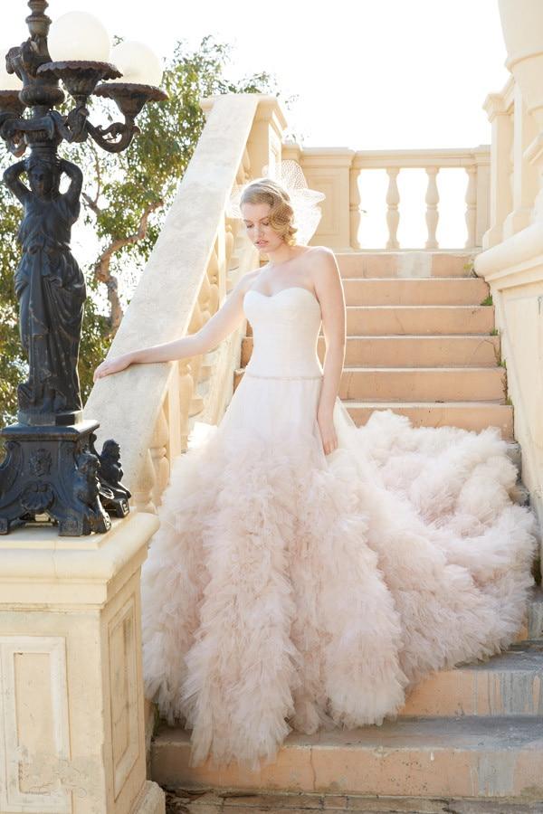 US $278.0 |Vestido De Noiva Sweetheart Simple Plus Size a line Wedding  Dress Blush Pink Tulle Bridal Gown With Ruffles wedding gown-in Wedding  Dresses ...