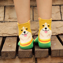 1 Pair Fashion 3d Animals Socks Women Style Striped Socks Lady Dogs Number Stereoscopic Cotton Hosiery Lovely Socks