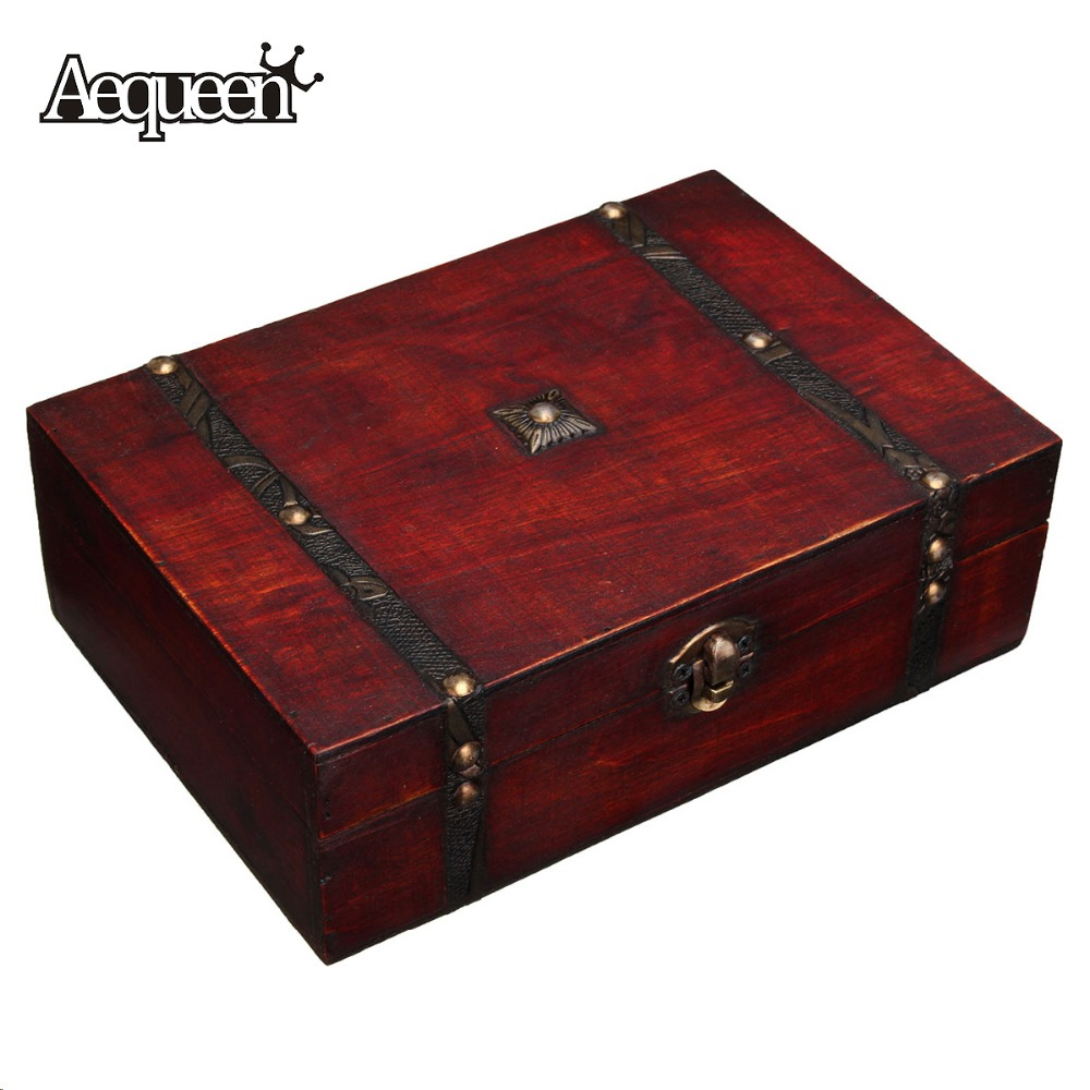 Online get cheap jewelry box antique for Vintage wooden storage boxes