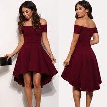 2019 spring fashion new short Bohemian sleevele solid color knee-length dress