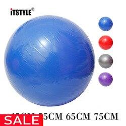 Itstyle esportes yoga bolas bola pilates fitness gym equilíbrio fitball exercício pilates workout massagem bola 45cm 55cm 65cm 75cm